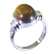 Tiger eye ring - 925 Sterling Silver Ring -Brown Ring - top jewelry Gems -UK