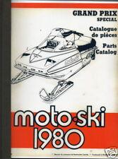 1980 MOTO-SKI SNOWMOBILE GRAND PRIX SPECIAL MANUAL