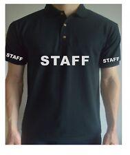 Printed STAFF / Doorman POLO Guard Work WorkWear BodyGuard Job T Shirt Top Tee