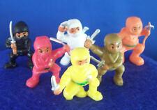 NEW MINI NINJA MARTIAL ARTS BATTLE FIGURE SET OF 6 FIGHTERS CAKE TOPPER FAVORS