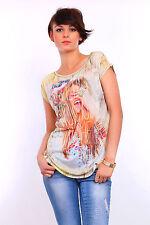 Sexy Women's Top GIRL Print Boat Neck Short Sleeve T-Shirt Sizes 8-12 FHB11