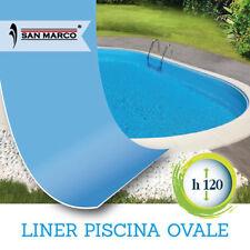 Liner per piscina ovale fuori terra o interrata 490 x 300 h120