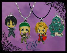 Fullmetal Alchemist sterling silver / faux leather necklace Full Metal Ed & Al