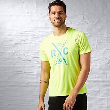 Reebok Men's Running Essentials Tee Training Yellow Shirts AX9845
