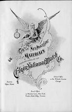 Elgin, Hamilton, Waltham & Illinois Watch Materials Catalogs of Parts on DVD