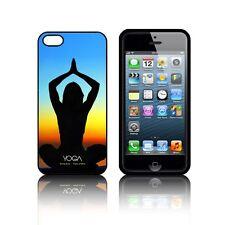 'YOGA' étui en Silicone pour Apple iPHONE 5, 5S,SE,5C Gel Caoutchouc Noir
