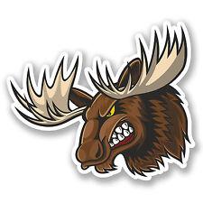 2 x Moose Vinyl Stickers Laptop Car Helmet Ski Snowboard Canada Deer #4457/SV