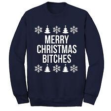 Merry Christmas Bitches Jumper Sweatshirt, Ugly Xmas Jumper, Gift Humor Funny