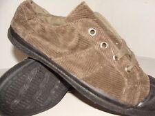 Bensimon Tennis Shoes Beige Lace-Up Corduroy New