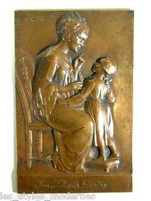 Joseph KOWARZIK Wien Jugendstil Bronze ° Wand-Zierplatte Frau Rath Goethe 1908