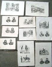 1836 INCISIONI SU GUERRE NAPOLEONICHE UNIFORMI SCENE DI GUERRA RITRATTI.......