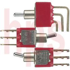 C&K Kippschalter Schalter für Printmontage 3xEIN-EIN (UM) oder EIN-AUS Serie U31