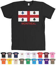 Montréal City Flag T-Shirt Montreal Québec Canada Logo Tee - MORE COLORS