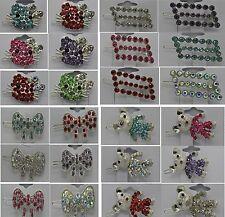 Fashion jewelry lots crystal hair clip  rhinestone head wear hair pin  #VV21