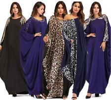 Dubai Style Muslim Women Vintage Maxi Cocktail Dress Islamic Abaya Robe Kaftan