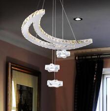 LED Crystal Ceiling Light Moon Star Lamp Chandelier Kid's Room Lighting Fixtures
