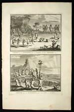 Gravure de Picart 1728 SACRIFICE DES INDIENS DE FLORIDE
