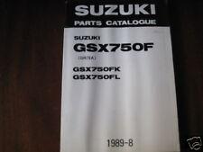 Teilekatalog Suzuki GSX 750 F, Stand 1989