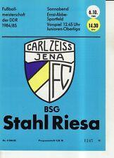 OL 84/85 FC Carl Zeiss Jena - BSG Stahl Riesa