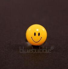 Funky solo para niños y hombres 10mm pendiente cara sonriente Divertido Retro Fresco Festival emoji UK