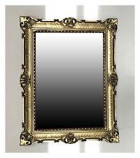 XXL Espejo Barroco de pared en dorado negro Repro Antiguo ROCOCO 90x70 cm