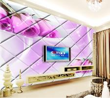 Papel Pintado Mural De Vellón Rosa De Diamante Morado 22 Paisaje Fondo Pantalla
