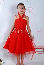 Vestito da damigella in bianco Rosa-rosso LILLA 4 5 6 7 8 anni