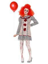 Ladies Female Halloween Fancy Dress Costume Smiffys Vintage Clown Pennywise