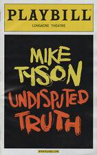 Iron Mike Tyson Boxing Heavyweight Champion Undisputed Truth Playbill MINT!