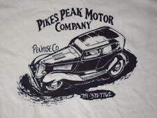 Pikes Peak Motor Co. Hot Rod T Shirt  1934 Ford Flathead V8 Sedan Old School VTG