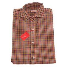 2603P camicia uomo quadretti marrone ALTEA camicie  shirt men
