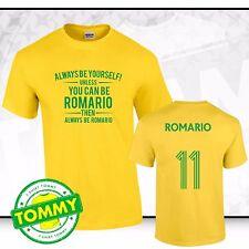 Brazil Always Be... Romario T-Shirt Brazil Tee Samba Brazil Fancy Dress