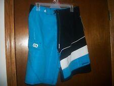 Gotcha Blue and White Swimming trunks Shorts cargo pocket  NWT 30