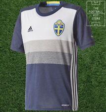 4c06f7cbca43 Sweden Away Shirt - Official adidas SVFF Boys Football Jersey - All Sizes
