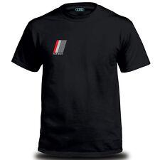 Genuine Audi Sport Quattro Car Racing Auto Motorsport Black Mens Tee T-Shirt