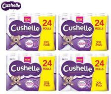Cushelle Luxury Soft 2 Ply White Toilet Roll Tissue Paper - 24 48 or 96 Packs