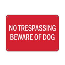 No Trespassing Beware Of Dog Pet Animal Sign Aluminum METAL Sign