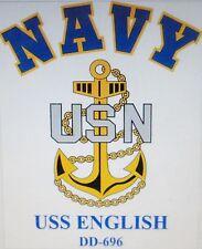 USS ENGLISH DD-696* DESTROYERS U.S NAVY W/ ANCHOR* SHIRT
