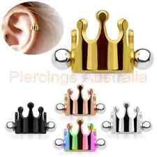 16G Helix Cartilage Ear Piercing Cuff Crown Body Jewellery