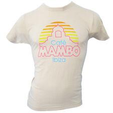 OFFICIAL Cafe Mambo Ibiza Mens T-shirt Ivory New Logo Cream crew neck RRP £40.00