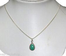 """Verde azulado en forma de lágrima estilo colgante collar de 16 """", de 18"""" o de 20 """"Cadena"""