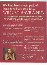 Vonda Shepard & Indigo Girls Baby Don't Trade Ad Poster for 1999 by 7:30 Cd