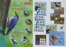Rumänien 2017 Vögel,Birds,Rabe,Elster,Krähe Mi.7176-79,Zf.,K,KB,Block 691,FDC