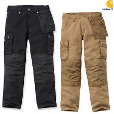 Carhartt Pantalones De Hombre Lavado Duck MULTIPOCKET Trabajo Pantalón Cargo