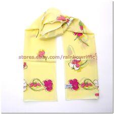 Salvatore Ferragamo Ladies Long Silk Wrap Scarf Floral NWT Gift Box Authentic
