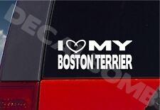 i heart my BOSTON TERRIER decal / sticker dog puppy