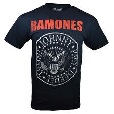 Ramones Men's HEY HO LET'S GO Blitzkrieg Bop Band T-Shirt, Black