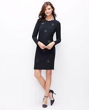 Ann Taylor - Woman's Blue Faux Leather Dot Side Zip Shift Dress $149 (D38)