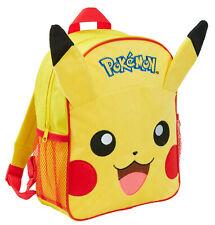 Pokemon Pikachu 3D Plush Backpack Kids Character School Rucksack Lunch Book Bag