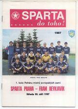 EC I 87/88 Sparta Praha / Prag - Fram Reykjavik (30.09.1987)